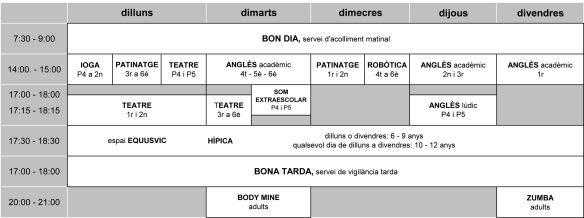 horaris_extraescolars